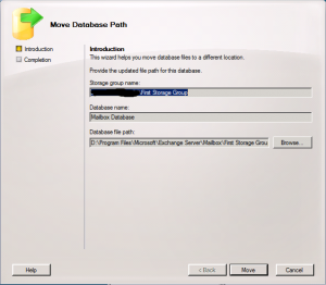 Move Database Path Wizard