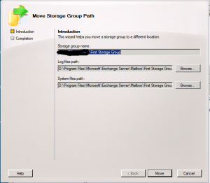 Move Storage Group Path Wizard