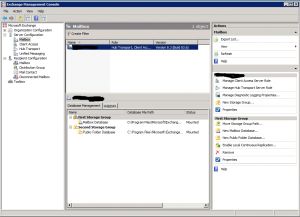 Exchange Server 2007 Management Console