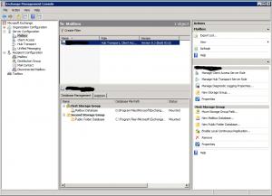 Exchange Server 2007 Management Console