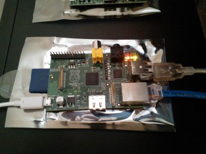 Raspberry Pi in operation
