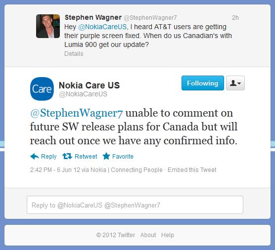 Response from Nokia Regarding the purple hue issue