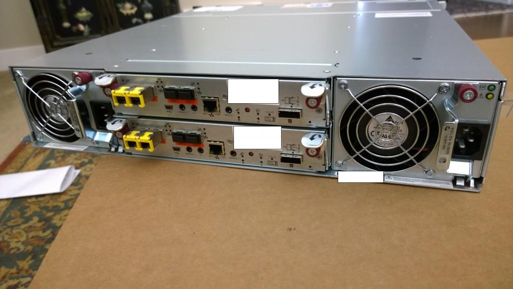 HP MSA 2040 Dual Controller - Rear Image