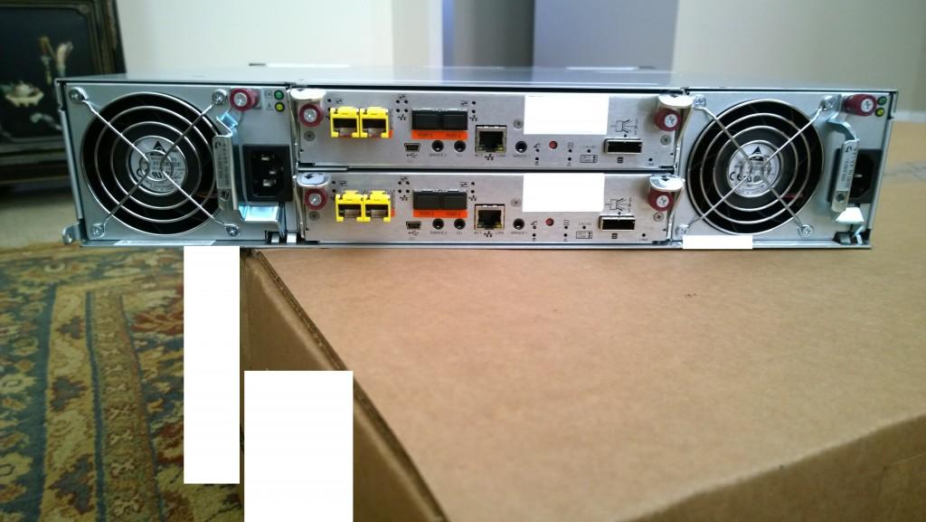 HP MSA 2040 Dual Controller SAN - Rear Image