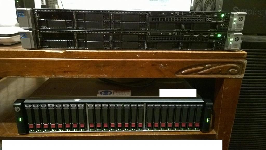 HP Proliant DL 360p Gen8 HP MSA 2040 Dual Controller SAN