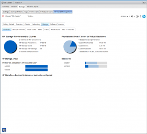 HP Insight Control for VMWare Web Client