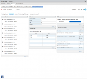 HP Inight Control for VMWare Overview in Web Client