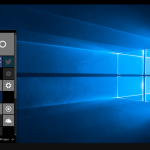 Desktop and Start Menu on Continuum