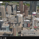 Aerial display of Microsoft Maps on Continuum