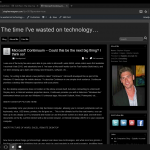 Viewing blog using Edge on Continuum