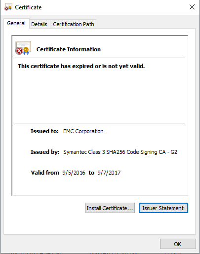 Invalid certificate when deploying vSphere Data Protection