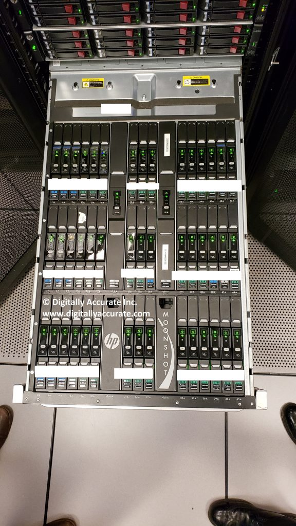 HPe Moonshot 1500 Chassis with 45 Cartridges