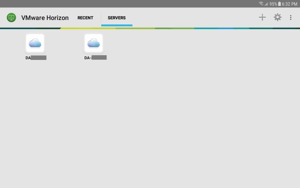 VMware Horizon View Mobile Client Android Server List