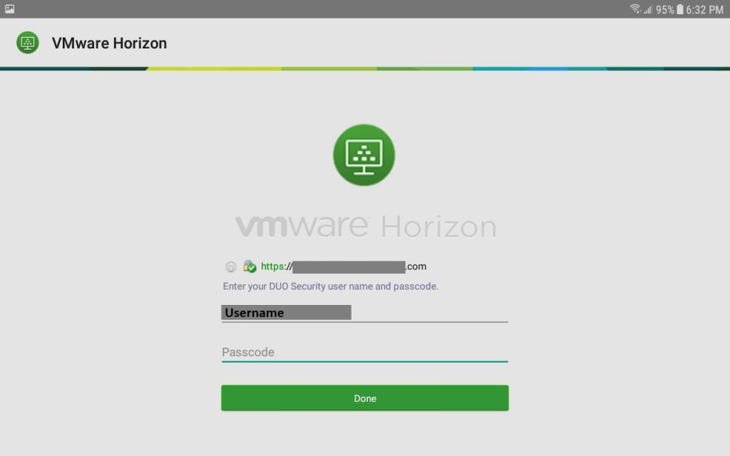 VMware Horizon View Mobile Client Android Server Login