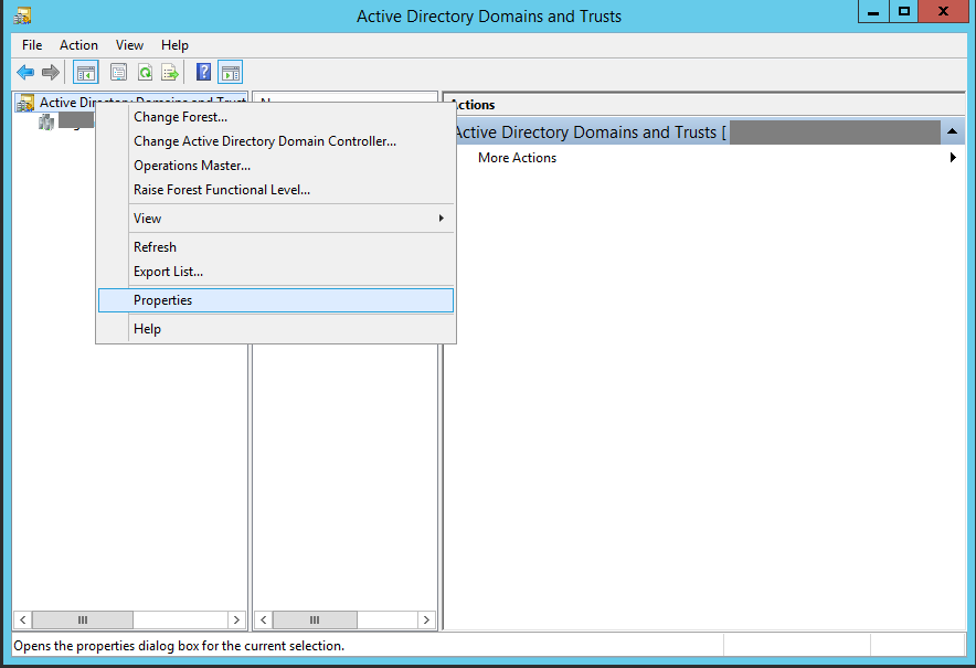 Active Directory Domains and Trusts Window