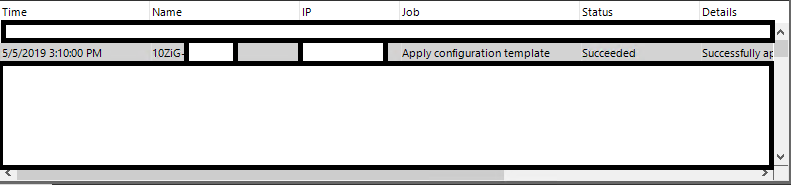 10ZiG Manager Apply Configuration Template Status Task Window Pane Completed