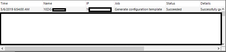 Generate configuration template task list