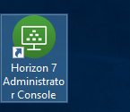 Horizon 7 Administrator Launch Icon Screenshot