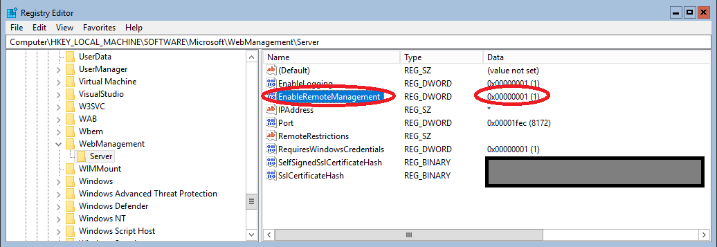 Registry Modifcation of EnableRemoteManagement