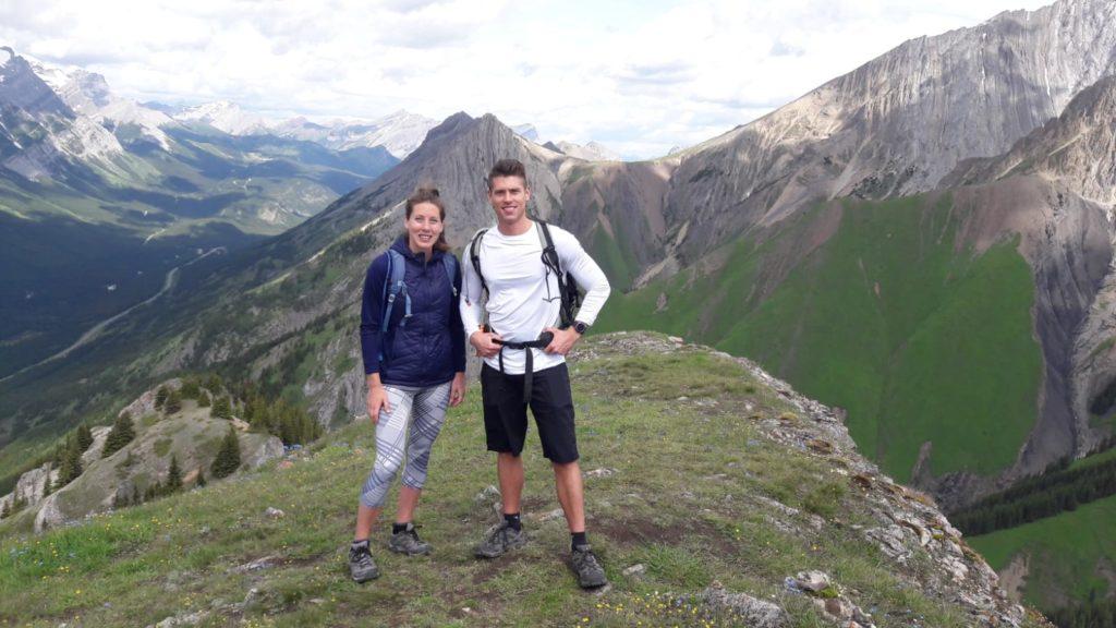 Stephen Wagner and Elisha posing on King Creek Ridge