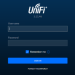 Ubiquiti UniFi Controller Login Screen