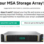 Screenshot of HPE MSA Storage Array Health Check