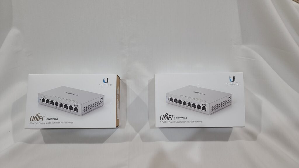 Picture of 2 Ubiquiti UniFi US-8 Switches