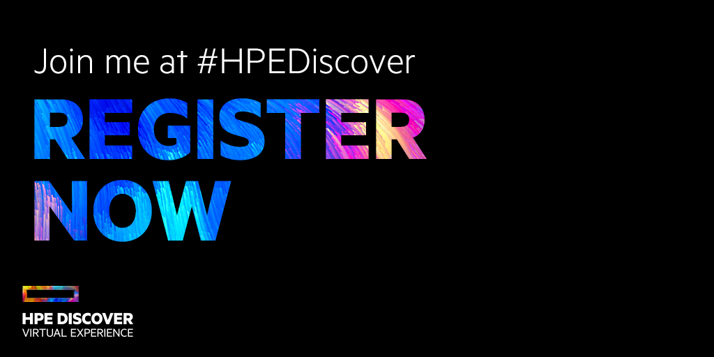 HPE Discover Register Now Graphic