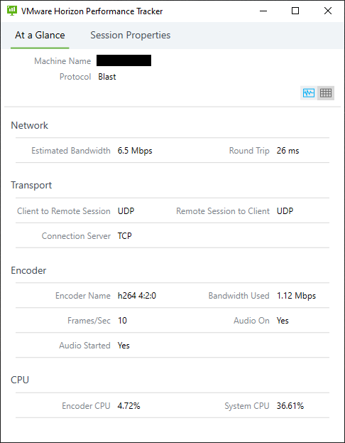 VMware Horizon Performance Tracker