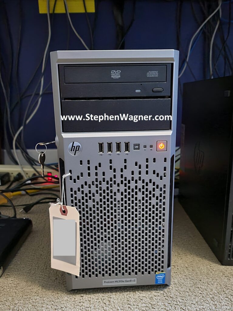 Picture of an HPe ML310e Gen8 v2 with NVMe Storage
