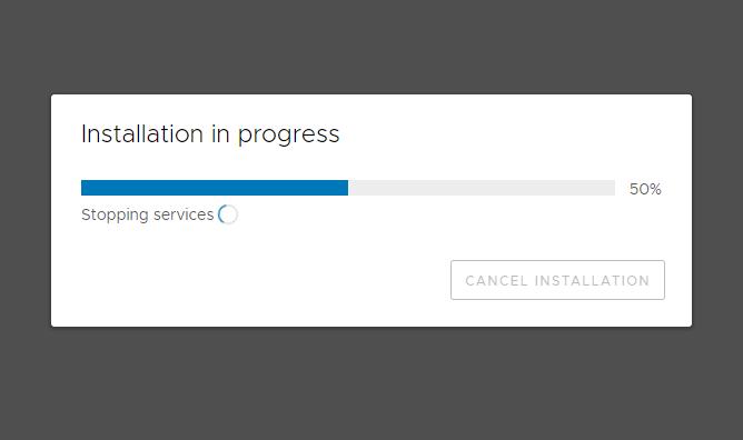 vCSA Update Installation